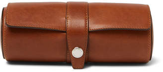 Brunello Cucinelli Burnished-Leather Watch Roll