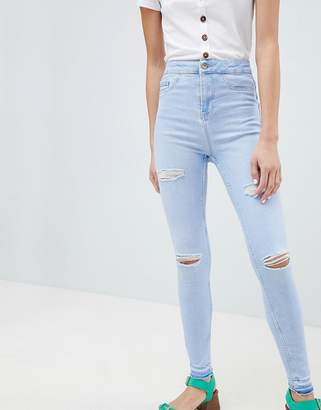 New Look Ripped Fray Hem Jean