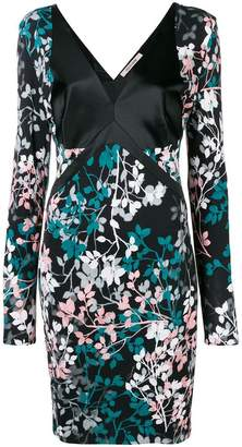 Roberto Cavalli floral print long-sleeve dress