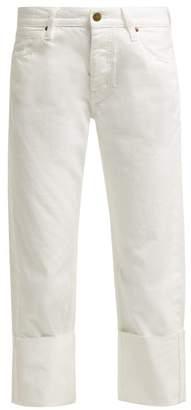MiH Jeans Phoebe Low Slung Boyfriend Jeans - Womens - White