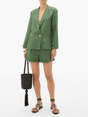 Loup Charmant Saint Denis Single Breasted Linen Blazer - Womens - Green