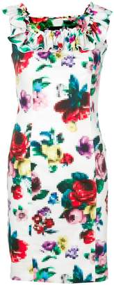 Love Moschino floral pixel print dress