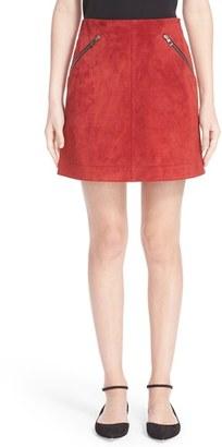 Women's Loewe Suede Skirt $1,950 thestylecure.com