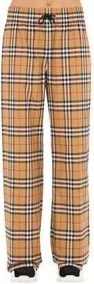 Burberry Whynham Check Wide-Leg Pants