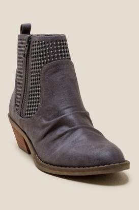Report Dorsey Scrunched Ankle Boot - Dark Grey