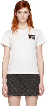 Marc Jacobs Ivory 'MTV' T-Shirt $195 thestylecure.com