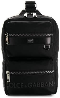 Dolce & Gabbana logo one-strap backpack