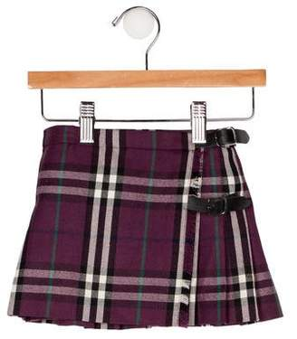Burberry Girls' Plaid Mini Skirt