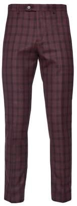 "Paisley & Gray Downing Plaid Print Slim Fit Pants - 30-34\"" Inseam"