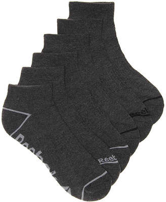Reebok Quarter Ankle Socks - 6 Pack - Men's