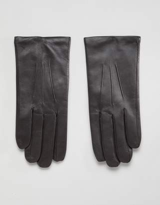 Dents Bath leather gloves with cashmere lining