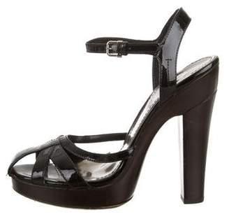 Burberry Patent Leather Platform Sandals