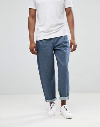 Asos DESIGN Oversized Jeans In Raw Gray