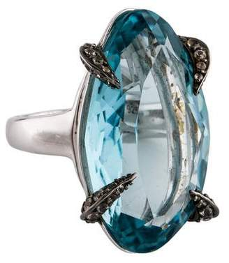 Alexis Bittar Synthetic Quartz & White Sapphire Ring