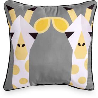 """Scribble Giraffe 16"""" Square Decorative Pillow Bedding"""