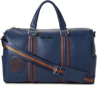 Robert Graham Navy Faux Leather Duffel Bag