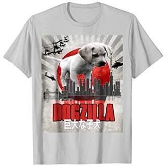 Dog Zilla Cute Dog Over Tokyo T Shirt Dogzilla Puppy Shirt