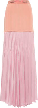 Ellery Terentia Jersey-Top Pleated Maxi Skirt Size: 36