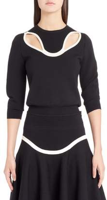 Alexander McQueen Graphic Cutout Sweater