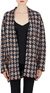 Isabel Marant Women's Jamsy Wool-Blend Tweed Cardigan - Blue