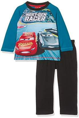 Disney Boy's Long Pyjama Sets, (Black/Blue)