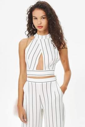 Love Womens **Stripe Crossover Top