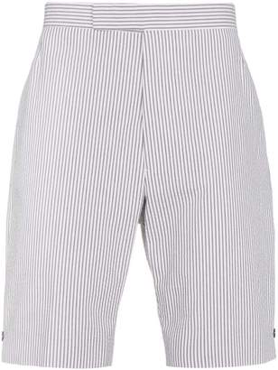 Thom Browne striped linen shorts