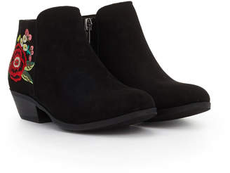832f3e8cd97dd Sam Edelman Girls Petty Embroidered Ankle Bootie