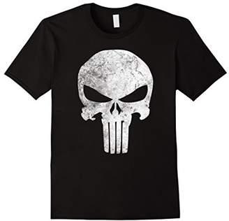 Marvel Punisher Skull Symbol Distressed Graphic T-Shirt