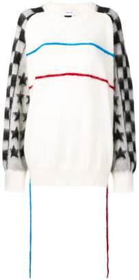 Facetasm contrast colour-block sweater