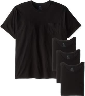 Hanes Men's Big-Tall Assorted Big and Tall Pocket T-Shirt