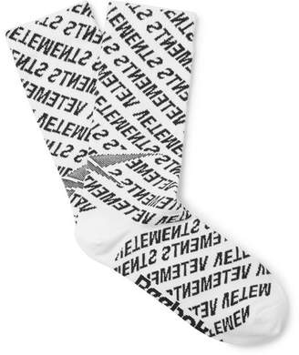Vetements + Reebok Logo-Jacquard Stretch Nylon And Cotton-Blend Socks