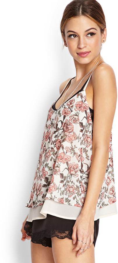 Forever 21 Nature Lover Layered Cami
