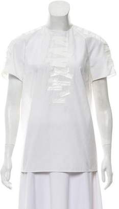 Christopher Kane Graphic Print-Accented Short Sleeve Top