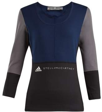 adidas by Stella McCartney Yoga Comfort Long Sleeved Top - Womens - Navy Multi