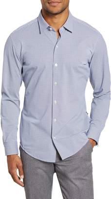BOSS Robbie Sharp Fit Button-Up Stretch Nylon Shirt