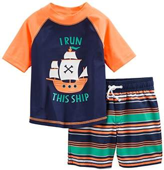 Carter's Simple Joys by Baby Boys' Toddler 2-Piece Swimsuit Trunk and Rashguard