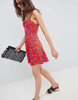 9eb15733e7a Asos Design Mini Cotton Sundress with Cups in Floral Print
