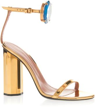 Bejeweled Metallic Sandal