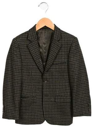 Isaac Mizrahi Boys' Plaid Wool Blazer