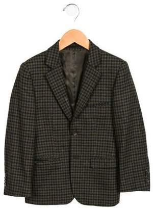 Isaac Mizrahi Boys' Plaid Wool Blazer