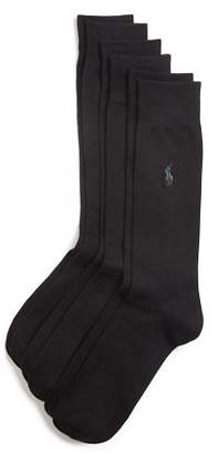 Polo Ralph Lauren Solid Dress Socks, Pack of 3