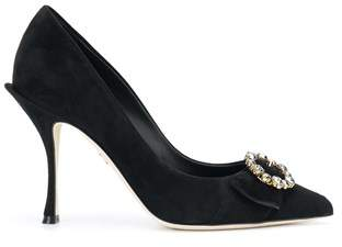 Dolce & Gabbana Dolce E Gabbana Women's Cd1072a127580999 Black Suede Pumps