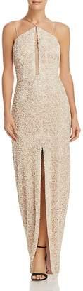 Aidan Mattox Aidan Aidan Sequin-Embellished Gown