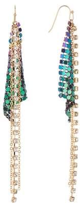 Free Press Mesh & Rhinestone Chandelier Earrings