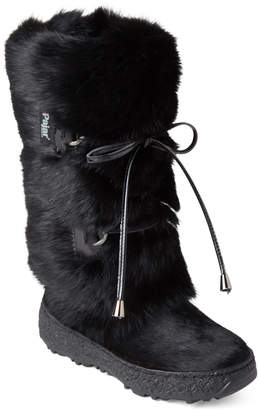 Pajar Canada (Kids Girls) Black Juliana Real Fur Snow Boots