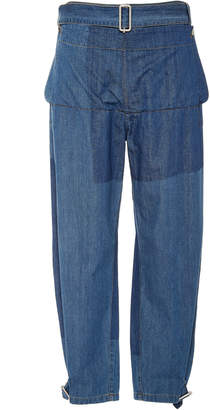 J.W.Anderson Belted Fold-Front Denim Trousers