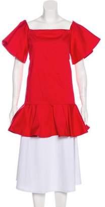 Alexis Flutter Sleeve Peplum Tunic