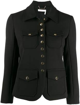 Chloé back button detail jacket
