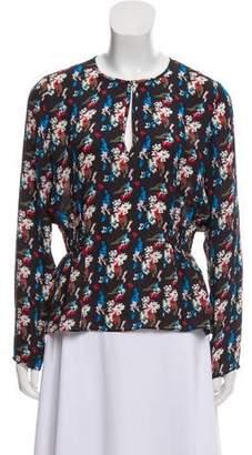 Tanya Taylor Printed Silk Blouse
